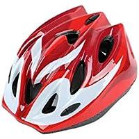 Flowerrs Casco Scooter Cascos de protección para niños Casco de protección de Seguridad Cascos de Montar a Caballo para niños de una Pieza (Rojo) Skate Helmet