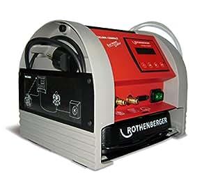Rothenberger 1820.00 Roklima Compact Dispositif de vide et de remplissage électronique pour climatiseurs Rouge/gris