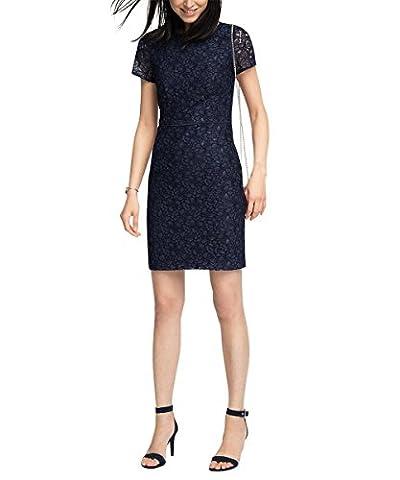 ESPRIT Collection Damen Kleid 046EO1E029-Mix Blau (Navy 400), 36