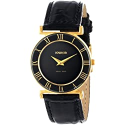 Jowissa Roma Women's Quartz Watch with Black Dial Analogue Display and Black Leather Strap J2.039.M