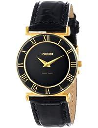 Jowissa J2.039.M - Reloj analógico de cuarzo para mujer con correa de piel, color negro