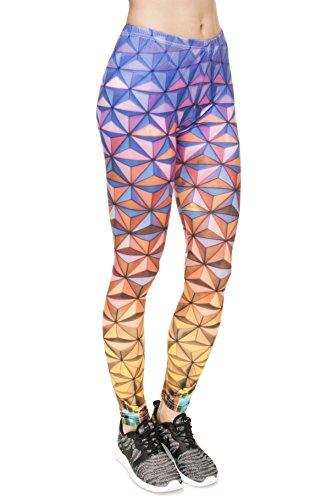 Leggings für Damen/Mädchen, mit 3D-Grafik, elastisch Mehrfarbig - Epcot