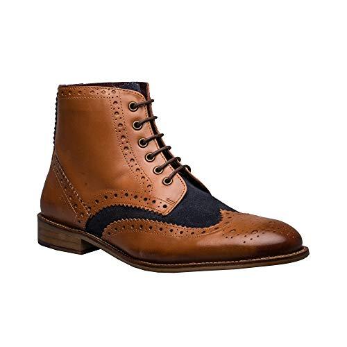 London Brogues Gatsby Hi Boot Tan/Navy