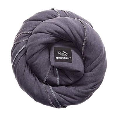 Manduca Sling > Slate < Elastisches Babytragetuch l 100% Bio-Baumwolle