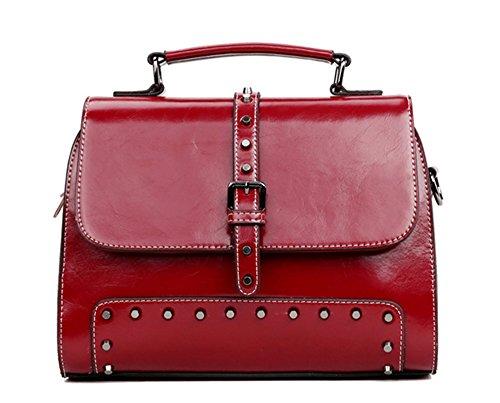 Xinmaoyuan Borse donna borsette in cuoio Ladies borsette in cuoio Ladies grande borsa tracolla Borsa Messenger Rosso