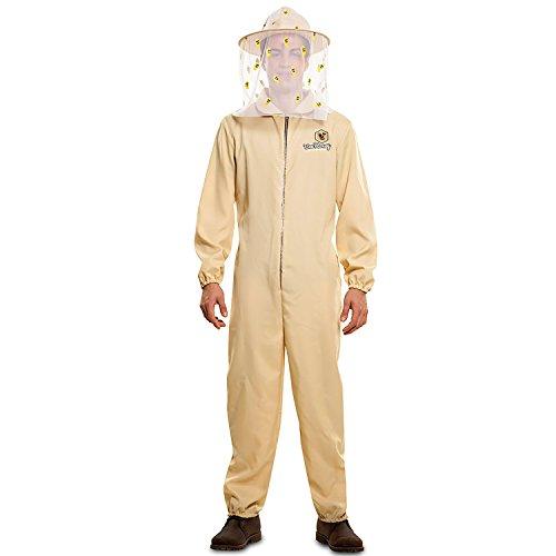 Kostüm Damen Für Erwachsene Honig Biene - EUROCARNAVALES Kostüm Imkermeister Matthias Gr. M/L beige Overall Imker Bienenzüchter Beruf Karneval (M/L)