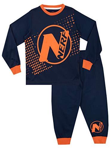 Nerf Pijamas de Manga Larga para niños Azul 6-7 Años