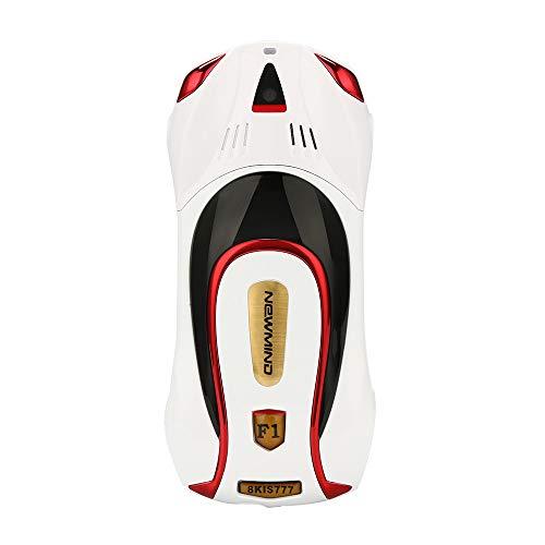 Fulltime E-Gadget Autotelefon , F1 + Kinder Sportwagen Handy Student Kleine BT MP3 Systemspeicher32M + 32M Handy (Weiß)