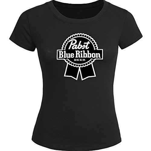 pabst-blue-ribbon-logo-for-ladies-womens-t-shirt-tee-outlet