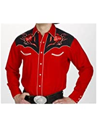 Western Express - Chemise country LineDance USA - Rouge - Homme - Taille XXL - 830-RED