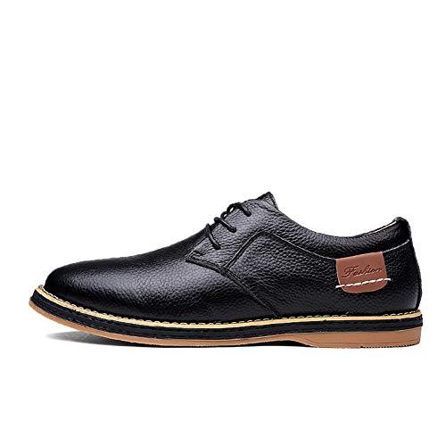 Hy-w Chaussures pour Hommes, Nouveaux Chaussures décontractées en Cuir pour Hommes Chaussures à Lacets pour Le Bureau et la carrière (Couleur : B, Taille : 43)