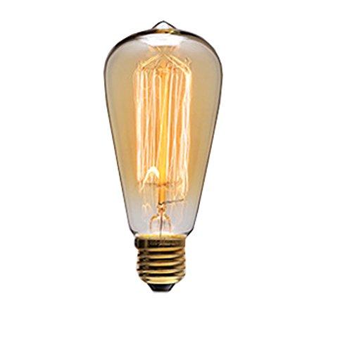 Cozyle Industrielle Retro Pendelleuchte LED Kronleuchter Vintage Loft hängendes Licht Glass Shades E27 Leuchtmittel für Küche, Wohnzimmer, Schlafzimmer Restaurant (St64-1 220v 40w)