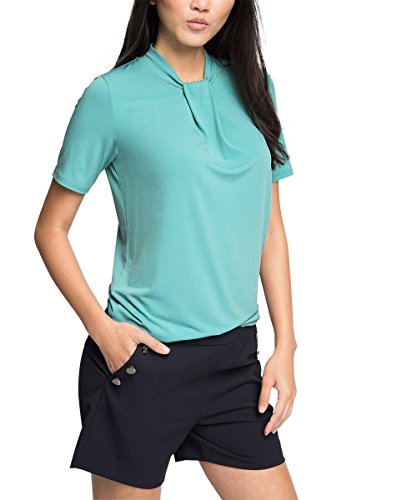 Esprit 036eo1k021 - Soft Viscose - T-shirt - Femme Vert - Grün (DUSTY GREEN 335)