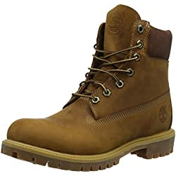 "Timberland Heritage 6"" Premium Waterproof, Stivali, Uomo, Marrone (Burnt Orange Worn Oiled), 43"