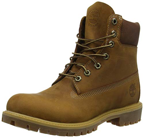 "Timberland Herren Heritage 6"" Premium Waterproof (wide fit) Klassische Stiefel Braun (Brown Burnished Full Grain) 40 EU"