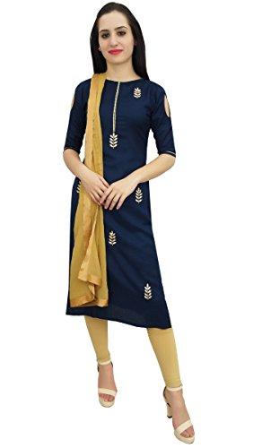Atasi Designer Rayon Blau Salwar Kameez Ethnische indische Custom Damen Clothing-40 -