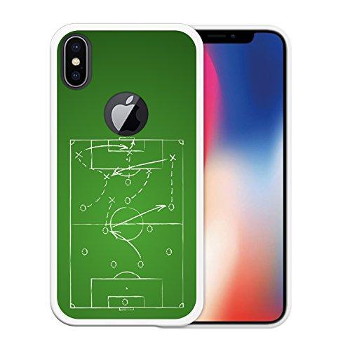 iPhone X Hülle, WoowCase Handyhülle Silikon für [ iPhone X ] Schwarzer Basketballspieler Handytasche Handy Cover Case Schutzhülle Flexible TPU - Schwarz Housse Gel iPhone X Transparent D0124