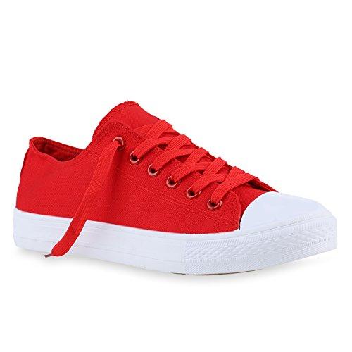Herren Sneakers | Freizeitschuhe Sportschuhe | Schnürer Stoffschuhe |Fitness Streetstyle | viele Farben Rot Weiss Weiss