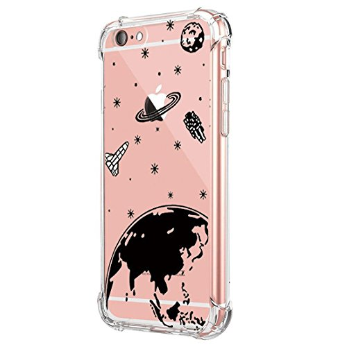 JEPER Funda iPhone 6 6S Carcasa Silicona Transparente Protector TPU Airbag Anti-Choque Ultra-Delgado Anti-arañazos Case para Teléfono Apple iPhone 6/6S Caso Caja (iPhone 6/6S, Dreamcatcher)