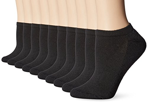 Hanes Women'S Big Tall No Show Extended Size Sock Black Sock Size 10 12 Sho... (Womens And Clothing Big Tall)