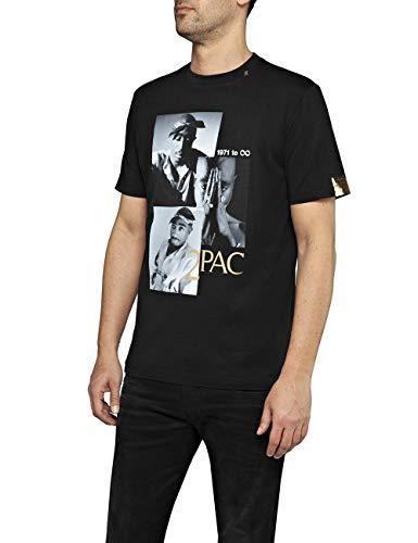 Replay Herren M3946E.000.22628 T-Shirt, Schwarz (Black 98), X-Small (Herstellergröße: XS)