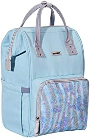 SUNVENO Sparkle Diaper Bag Backpack Large Capacity Baby Bags Multifunction Travel Backpack for Mom and Dad (Bl
