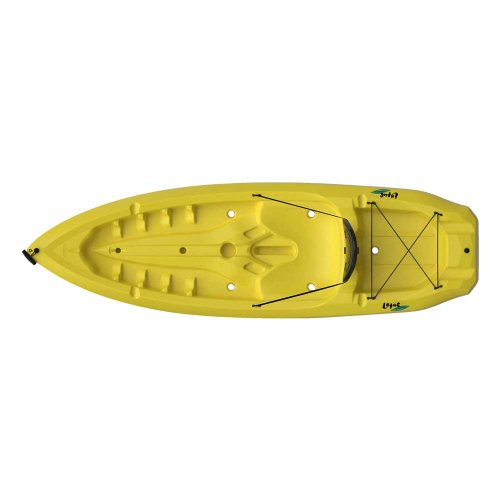 Lebenslange Lotus Erwachsene Kajak Verstellbare Hartschale Rückenlehne HDPE Plus doppelseitig Paddel–Gelb