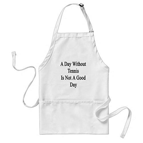 Mignon Tablier Patterns pour filles garçons Restaurant de cuisine Chef cuisson barbecue d'un jour sans Tennis n'est pas une bonne journée tabliers cou réglable et attaches de tour de taille