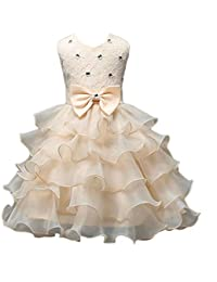 Vovotrade Vestidos Vestido de tirantes as de cuentas partido de las muchachas del vestido de boda