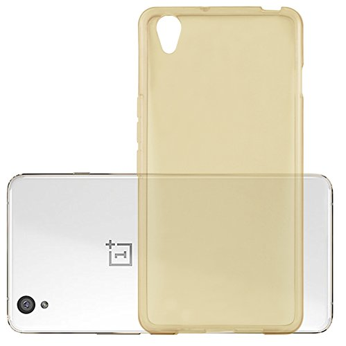 Preisvergleich Produktbild Cadorabo Hülle für OnePlus One X - Hülle in TRANSPARENT Gold – Handyhülle aus TPU Silikon im Ultra Slim 'AIR' Design - Silikonhülle Schutzhülle Soft Back Cover Case Bumper