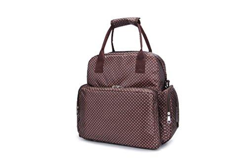 Joymoze Wasserfester großer Multifunktioneller Windel-Rucksack, praktische modische Mutter Tasche Windel Tasche Beige 816 Kaffee