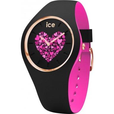 Ice-Watch 013371 ICE love 2017 black medium 2H Uhr Damenuhr Kautschuk Kunststoff 10 bar Analog Schwarz