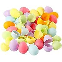 48 Mini Kunststoff-Eier zum Befüllen und Basteln, pastellfarben, farblich sortiert
