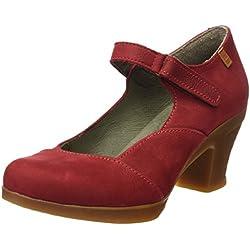 El Naturalista S.A N588 Pleasant Espiral Zapatos de tacón con punta cerrada, Mujer, Rojo (Tibet)