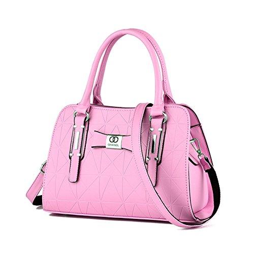 LiZhen Ms. pacchetti nuovi eleganti nella mezza età mamme vecchio borsa donna minimalista mano selvatici polizze di carico tracolla messenger bag, core package azzurro Core Package rosa