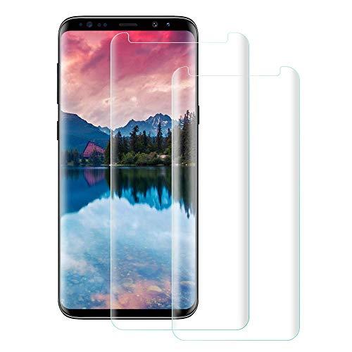 Parsion Schutzfolie Panzerglas für Samsung Galaxy S9 Plus, [9H Härte] [3D Abgerundete] [Vollständige Abdeckung] [Ausrichtungsrahmen Einfache Installation] Gehärtetem Glas Displayschutzfolie