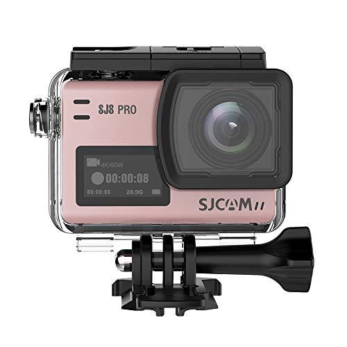 """Scheda da 16GBTF + videocamera SJCAM SJ8 Pro WiFi Sport action camera, HD 4K 60fps12MP 30M impermeabile Zoom digitale 2.33 \""""Videocamera con doppio touch screen per lo sport action cam+ 1 pz Batteria supplementare + 1 caricatore doppio (oro rosa)"""