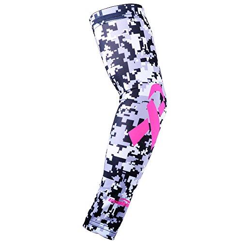 COOLOMG Arm Sleeves Radsport Armlinge Anti Rutsch Anti UV Hautfreundlich für Damen Herren 1 St&#252ck Grau Schwarz M