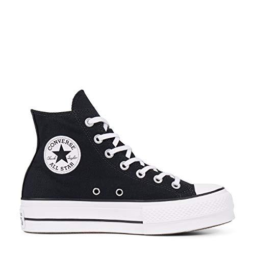 1a254a12 Converse Chuck Taylor CTAS Lift Hi, Zapatillas para Mujer, Negro (Black  White 001