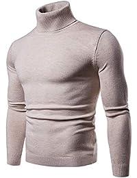 CCZZ Herren Strickpullover Stehkragen Turtleneck Sweater Slim Fit  Rollkragen Pullover Warme Strickpullover 1bd7e55f1f