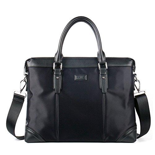 Männer Die Handtasche, Wasserdichte Oxford Tuch, Lässig, Aktentasche, Großer Umhängetasche, Business - Tasche, Computer - Tasche (Größe: 37 * 28. * 6 Cm) schwarz