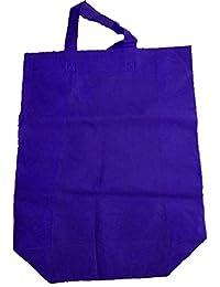 "Krishna Non Woven Box Pack Bag (SIZE: 17"" X 15"" X 4""-Inches) Blue, 100 Pcs."