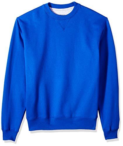 Champion Herren Cotton MAX Fleece Crew Sweatshirt, Athletic Royal, 2X-Large Athletic Crew Pullover