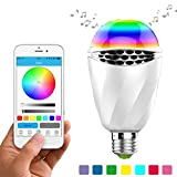RQINW Lampadina Bluetooth Luce LED Lampadina, E27 Smart LED Lampadine Lampada con Illuminazione RGB Cambia/Music Player/Smartphone App Controllato per casa