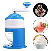 Wencaimd Ice Crusher Stylish Ice Shaver Blue Professional Slush Machine for Mojito Cocktails Coffees Snow Cones