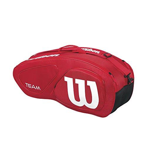 Wilson Damen/Herren-Tennistasche, Für Spieler Aller Spielstärken, Team II 6PK, Einheitsgröße, Rot, WRZ857606