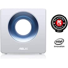 ASUS Blue Cave - Router Inalámbrico AC2600 Doble Banda simultánea Gigabit (procesador Intel Doble núcleo, Amazon Alexa, IFTTT, Aiprotection, compatible con Ai Mesh wifi)