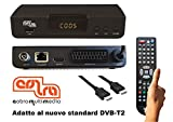 DECODER DIGITALE TERRESTRE COBRA, HD, PVR, DVB-T2, H.265/HEVC, Cavo HDMI, Telecomando con Autoapprendimento