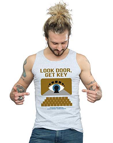 Drewbacca Hombre Bandersnatch Look Door Get Key Camiseta Sin Mangas Deporte Gris Medium