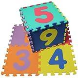Zahlen Puzzle Matte 10-teilig (0-9), 32 x 32 x 1 cm,aus EVA-Schaumstoff